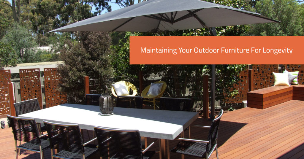 Maintaining Your Outdoor Furniture For Longevity