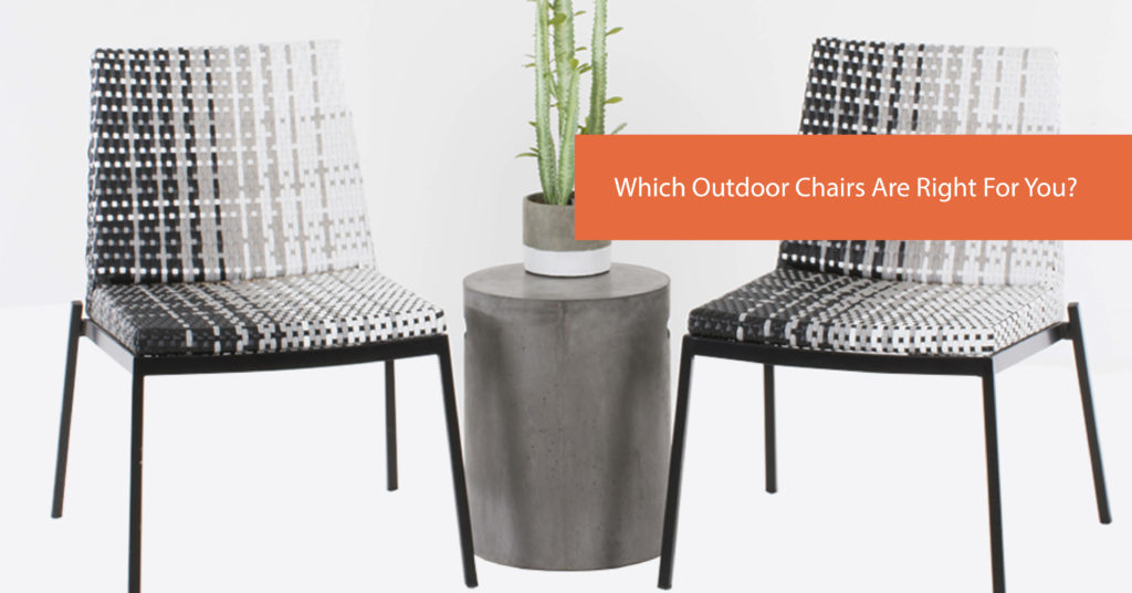Wicker, Aluminium or Merbau – Which Outdoor Chairs Are Right For You?