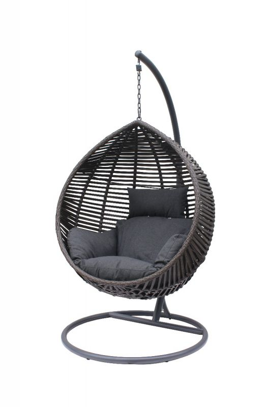Bari Hanging Chair Charcoal