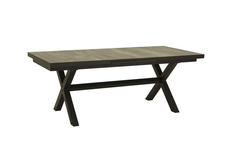 Clifton Outdoor Ceramic Extension Dining Table Charcoal