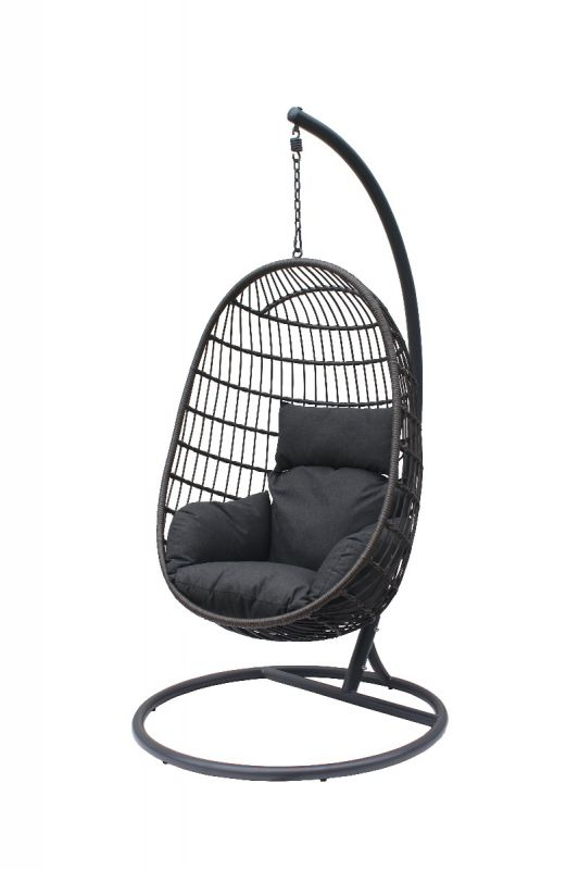 Langley Hanging Chair Charcoal