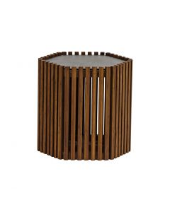 LAWRENCE OUTDOOR SIDE TABLE LOW BLACK 40x36x32CM