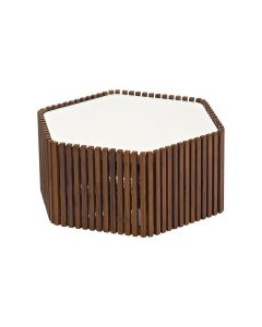 LAWRENCE OUTDOOR COFFEE TABLE WHITE 71.5x63.7x32CM