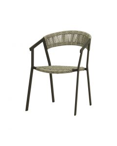 AUTO OUTDOOR WICKER DINING CHAIR CHARCOAL