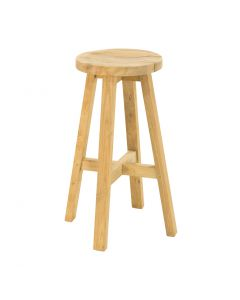 CARA OUTDOOR RECYCLED TEAK BAR STOOL NATURAL DIA.32 x 75CM