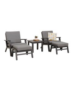 CORTONA 5PC OUTDOOR BALCONY SETTING CHARCOAL