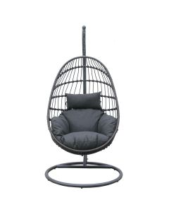 DAYTON OUTDOOR ROPE  FOLDABLE HANGING CHAIR CHARCOAL