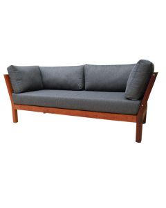 MADISON OUTDOOR MERBAU DAYBED WITH CHARCOAL CUSHION