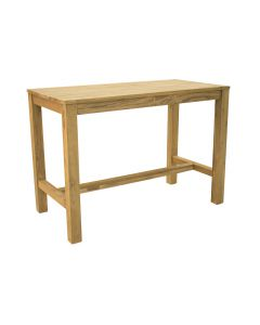 MILES OUTDOR RECYCLED TEAK BAR TABLE NATURAL - 200 x 75 x 105CM