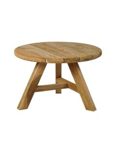 LEDUC  OUTDOOR COFFEE TABLE SMALL ROUND RECYCLED TEAK  DIA.50 X32CM
