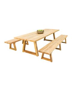 Valley Recycled Teak Bench -3pc Outdoor Dining Setting