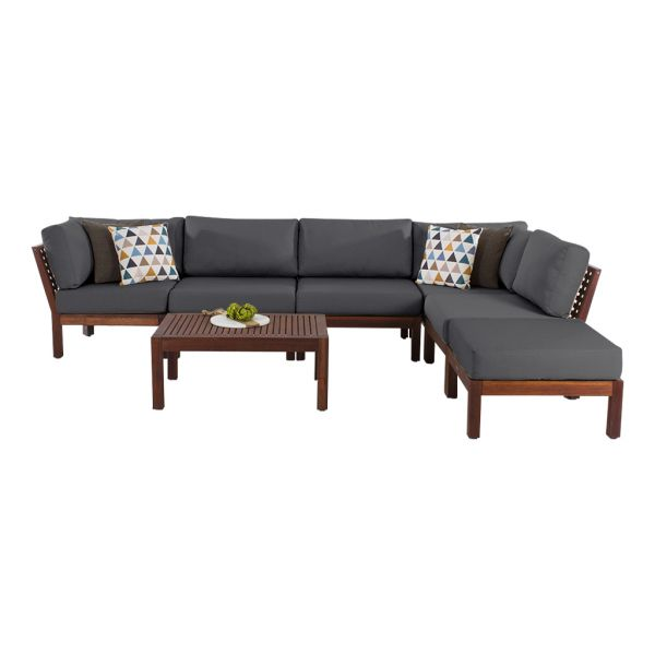 MADISON OUTDOOR  7 PCS LOUNGE SETTING  CHARCOAL