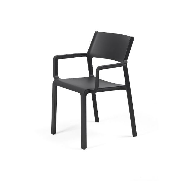 NARDI TRILL OUTDOOR RESIN DINING ARMCHAIR ANTHRACITE