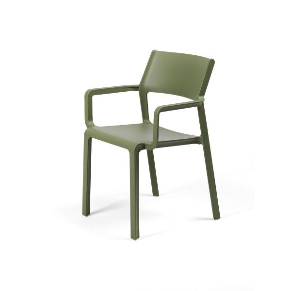 NARDI TRILL OUTDOOR RESIN DINING ARMCHAIR CHAIR GRASS GREEN (AGAVE)