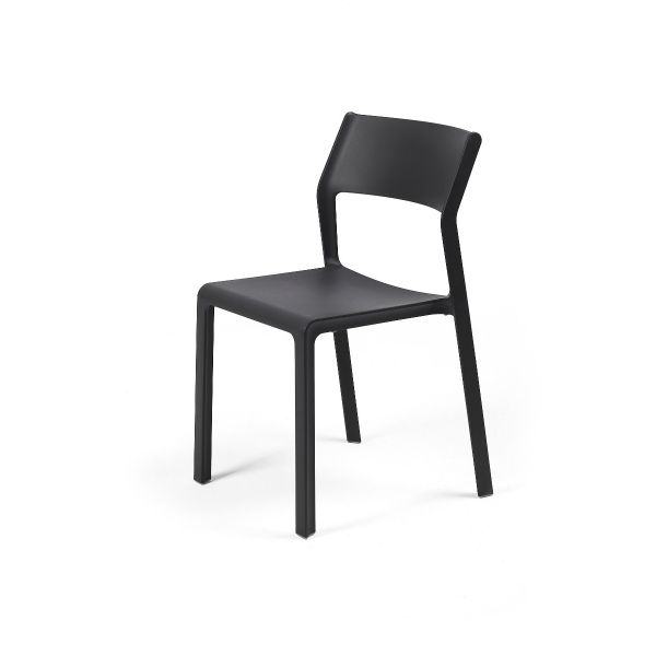 NARDI TRILL OUTDOOR RESIN DINING ARMLESS CHAIR ANTHRACITE