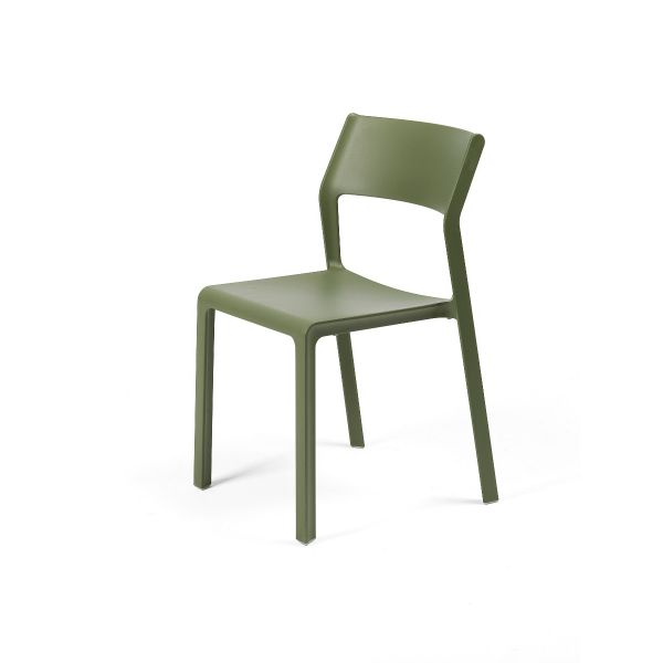 NARDI TRILL OUTDOOR RESIN DINING ARMLESS CHAIR GRASS GREEN (AGAVE)