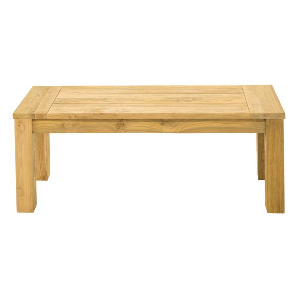POLLY OUTDOOR RECYCLED TEAK BENCH NATURAL - 135 x 40 x 45CM