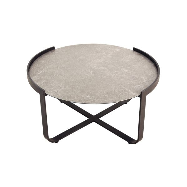 ATLANTA OUTDOOR CERAMIC GLASS COFFEE TABLE - 80Dia. x 40.5 cm