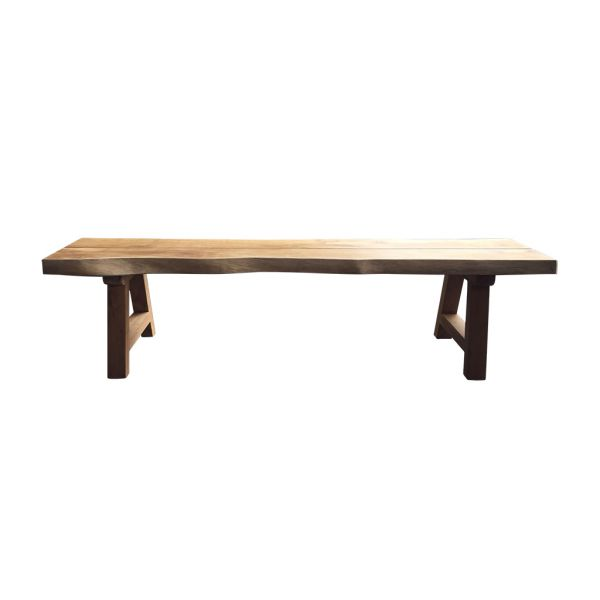 ALEXANDER OUTDOOR RECYCLED TEAK BENCH NATURAL  250X40X45CM