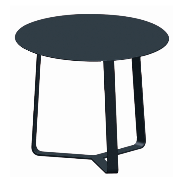 APOLLO OUTDOOR ALUMINIUM SIDE TABLE CHARCOAL DIA.44 X H35 CM