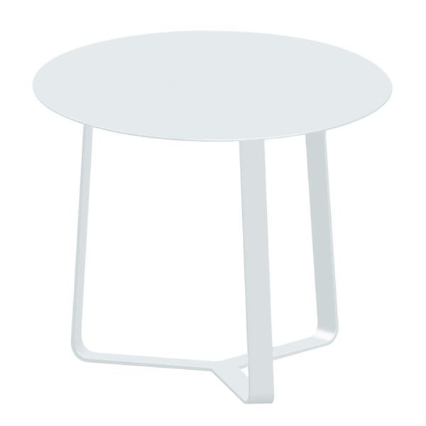APOLLO OUTDOOR ALUMINIUM SIDE TABLE WHITE DIA.44 X H35 CM