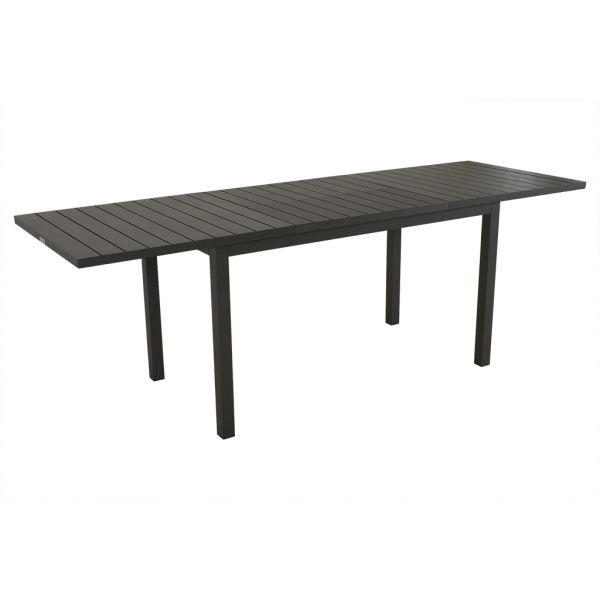AUTO OUTDOOR ALUMINIUM EXTENSION DINING TABLE CHARCOAL 150/226x75CM