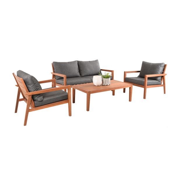CATANIA 4 SEATER OUTDOOR LOUNGE SETTING