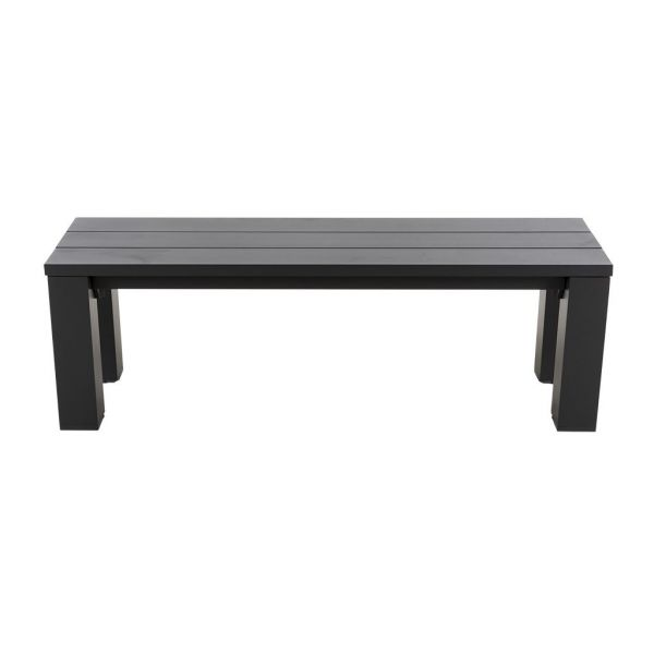 BLOCK OUTDOOR ALUMINIUM BENCH CHARCOAL 140 X 43 X 45 cm