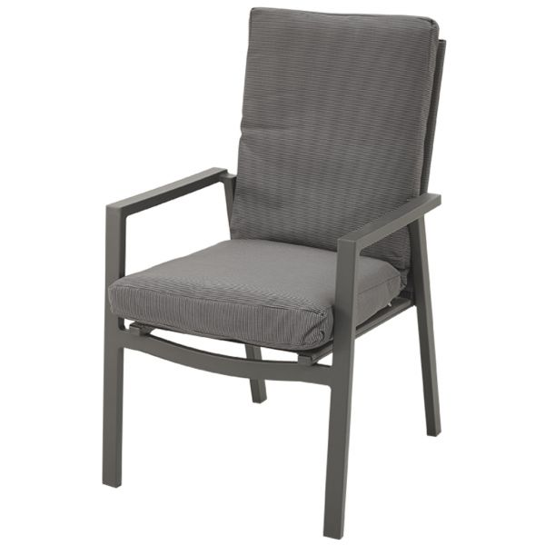 CHESTER OUTDOOR ALUMINIUM/TEXTILENE DINING CHAIR CHARCOAL