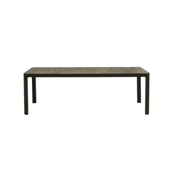 CLIFTON OUTDOOR CERAMIC DINING TABLE CHARCOAL 220 x 100 cm