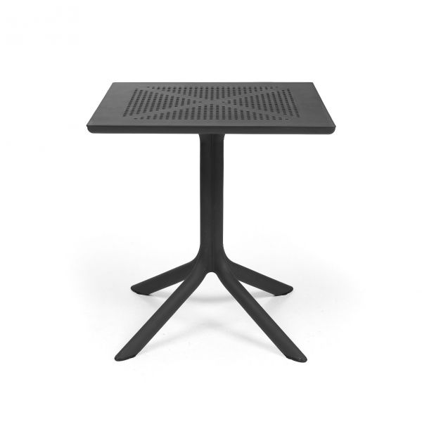 NARDI CLIP OUTDOOR RESIN DINING TABLE  ANTHRACITE 70 X 70 CM