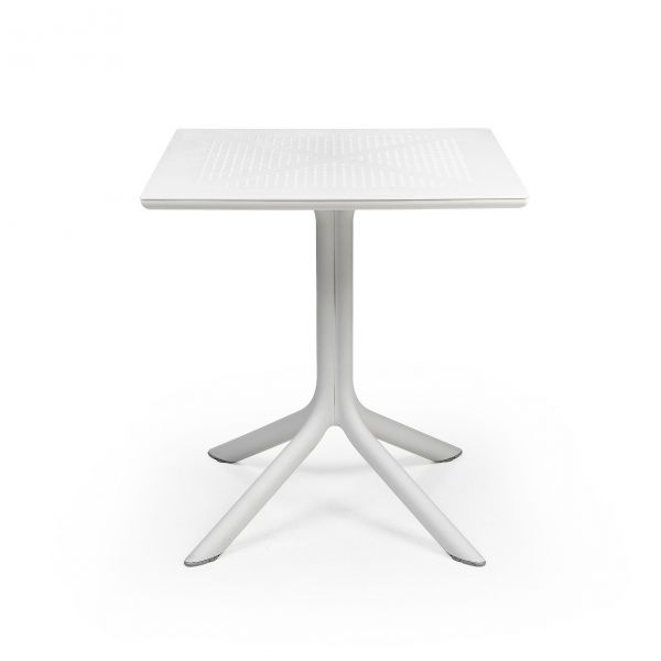 NARDI CLIP OUTDOOR RESIN DINING TABLE  WHITE ( BIANCO ) 70 X 70 CM