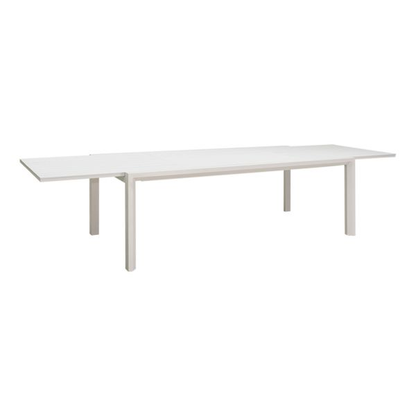 CODA OUTDOOR EXTENSION DINING TABLE WHITE - 220/340 x 108 cm