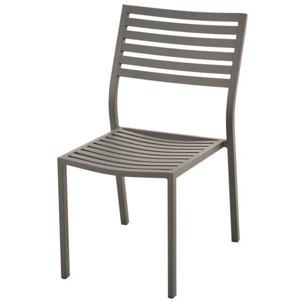 CODA OUTDOOR ALUMINIUM ARMLESS CHAIR CHARCOAL