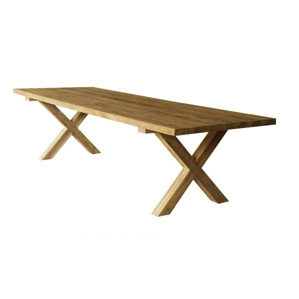 BUNBURY OUTDOOR RECYCLED TEAK TABLE NATURAL 200x100x76CM