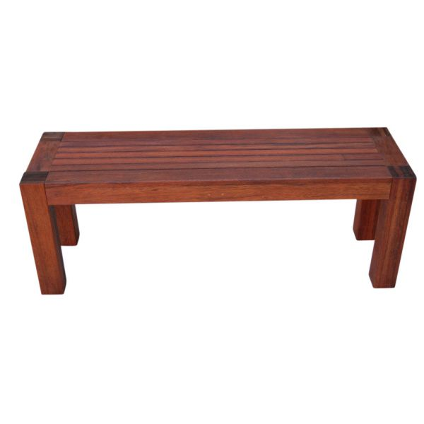 CUBE OUTDOOR MERBAU BENCH SMALL125X38.4CM