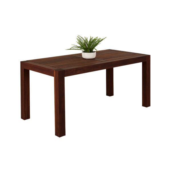 CUBE OUTDOOR MERBAU DINING TABLE SMALL -150X75CM