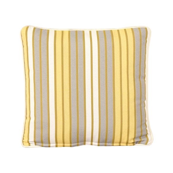 PARKER STRIPE OUTDOOR CUSHION SCATTER CITRON 45 X 45CM