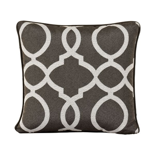 VANITY OUTDOOR CUSHION SCATTER CHARCOAL 45 X 45CM