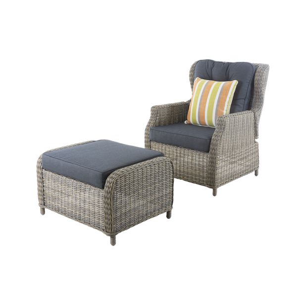 DARWIN 2PC OUTDOOR WICKER BALCONY SETTING