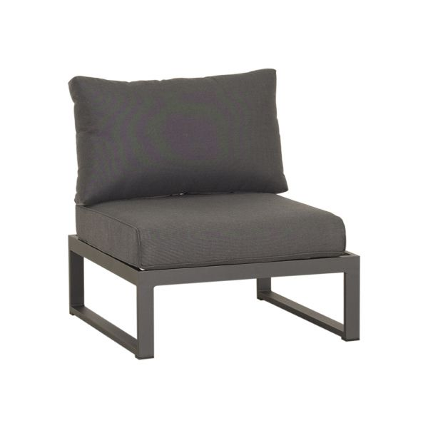 DENVER 1 SEATER OUTDOOR LOUNGE/FOOTREST CHARCOAL