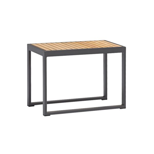 DENVER OUTDOOR HIGH SIDE TABLE 37.5x75xH54 CM CHARCOAL - TEAK TOP