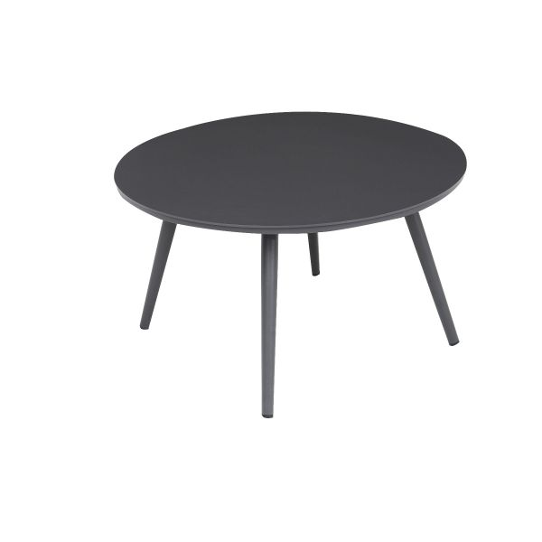 DERBY OUTDOOR ALUMINUM LARGE ROUND COFFEE TABLE CHARCOAL  DIA 71 X 40.5 CM