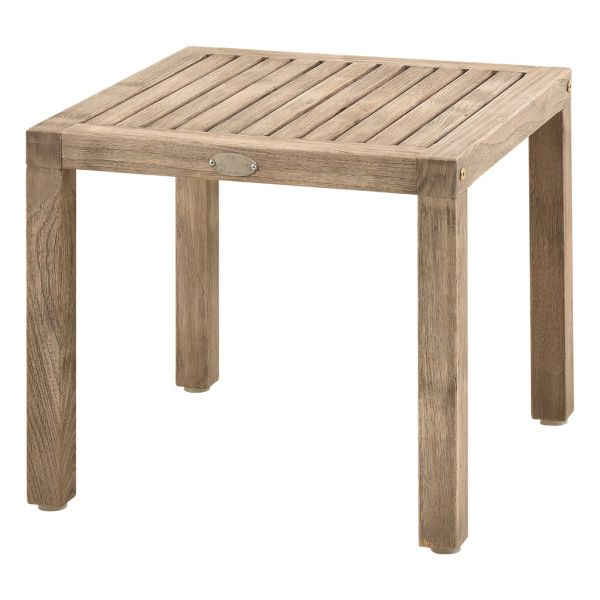 RICHMOND OUTDOOR TEAK SIDE TABLE SMOKE WHITE