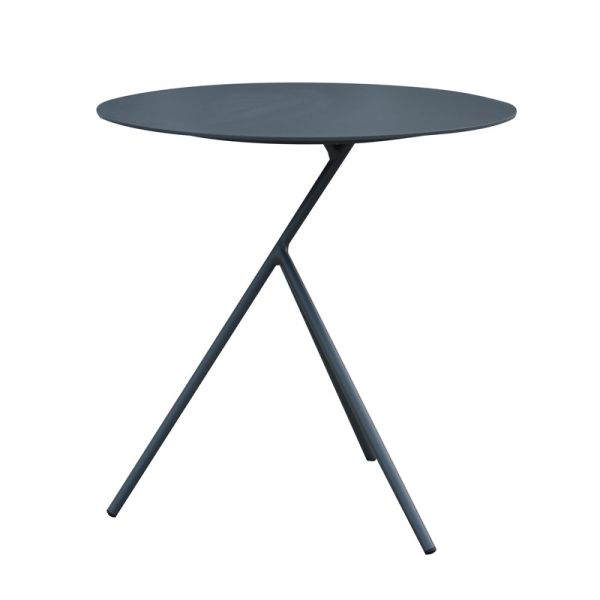 EXPLORER OUTDOOR ALUMINIUM SIDE TABLE CHARCOAL LARGE DIA.52 X H52 CM