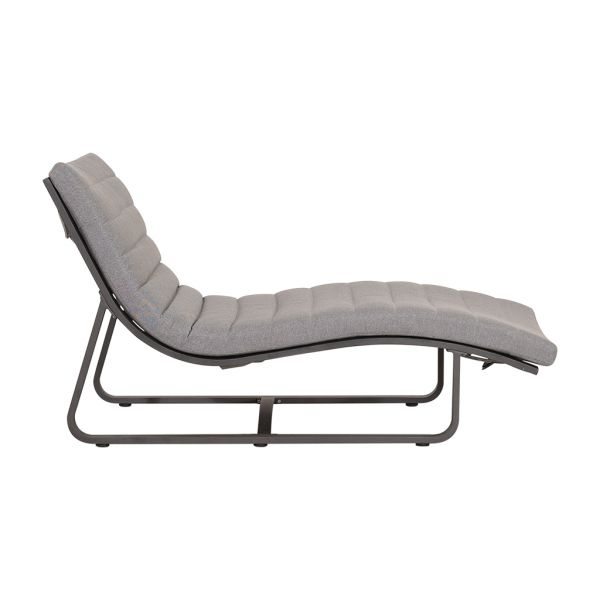 FLORIDA OUTDOOR ALUMINIUM SUNLOUNGER CHARCOAL