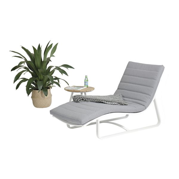 FLORIDA-MAX OUTDOOR ALUMINIUM SUNLOUNGER WHITE  L152CM (LOUNGER VERSION)