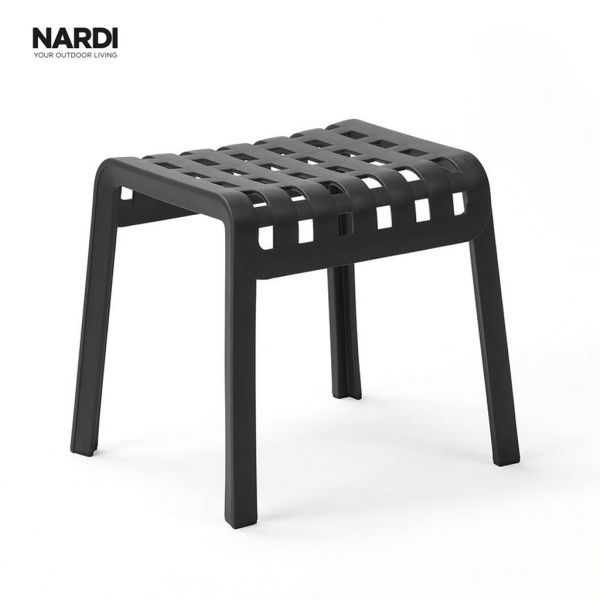 NARDI FOLIO OUTDOOR RESIN FOOTREST / FOOTSTOOL ANTRACITE