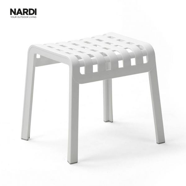 NARDI FOLIO OUTDOOR RESIN FOOTREST / FOOTSTOOL WHITE ( BIANCO)