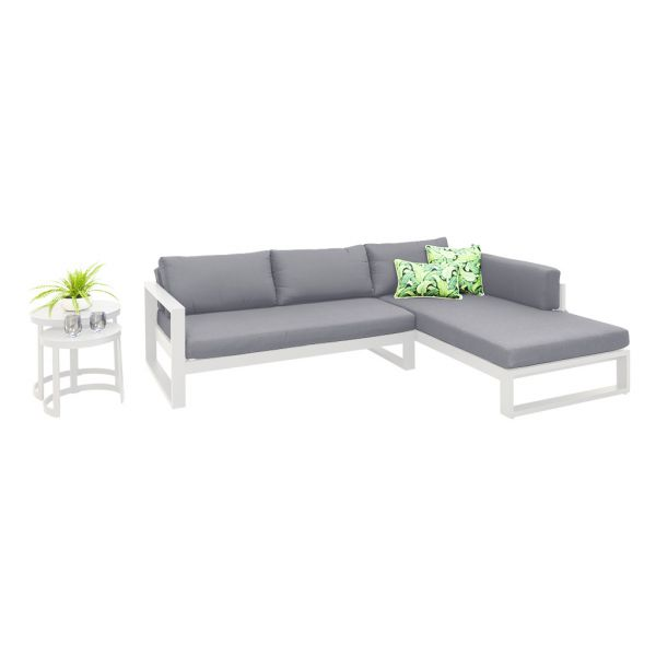FORLI OUTDOOR 4 SEATER LOUNGE SETTING WHITE